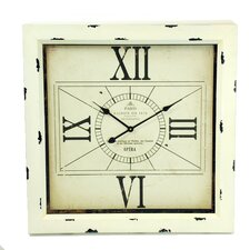 Square with 4 Roman Numeral Wall Clock