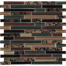 Spectrum Random Sized Stone Composite Mosaic Tile in English Brown