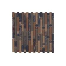Varietals Rioja Random Sized Stone and Glass Mosaic Tile in Brown