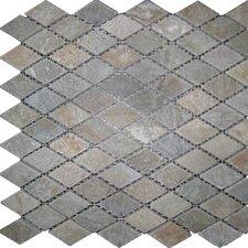 Diamond Slate Mosaic Tile in Sunny Ray