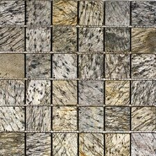 """2"""" x 2"""" Slate Mosaic Tile in Gold Green"""