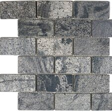 """2"""" x 4"""" Slate Subway Tile in Ostrich Grey"""