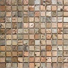 "1"" x 1"" Slate Mosaic Tile in Copper"