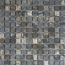 "1"" x 1"" Slate Mosaic Tile in Ostrich Grey"