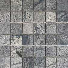 "2"" x 2"" Slate Mosaic Tile in Ostrich Grey"