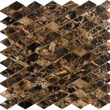 Diamond Marble Mosaic Tile in Emperador Dark