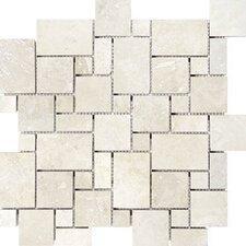 Mini Versailles Random Sized Travertine Mosaic Tile in Beige