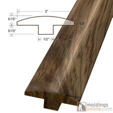 """0.63"""" x 2"""" x 78"""" Walnut T-Molding in Natural"""