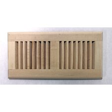 "5.63"" x 11.25"" Maple Wood Surface Mount Vent Cover"