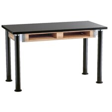 Dual Book Compartment Adjustable Height Science Table