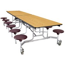 Mobile Cafeteria Stool-Table