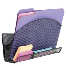 Onyx Magnetic Mesh File Pocket with Accessory Organizer in Black (Set of 36)