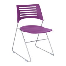 Pique Armless Office Stacking Chair (Set of 16)