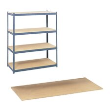 Particleboard 4 Shelf Shelving Unit For Steel Pack Archival