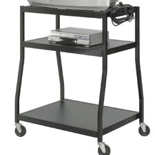 3-Shelf Wide Base AV Cart