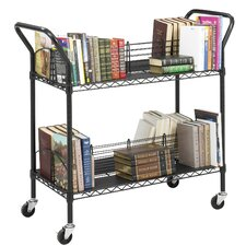 Wire Book Cart