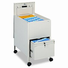 Safco Locking Mobile Tub File with Drawer, Letter