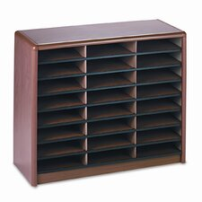 Steel/Fiberboard Literature Sorter, 24 Sections