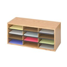 Small Wood/Corrugated Literature Organizer