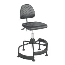 Height Adjustable Drafting Stool with Footrest