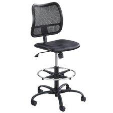 Vue Series Mesh Extended Height Chair, Vinyl Seat