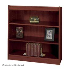 "3-Shelf Square Edge Veneer 35.75"" Standard Bookcase"