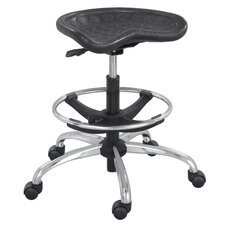 SitStar Stool with Footring and Casters