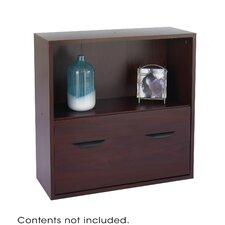 "Apres Modular Storage Shelf with Lower File Drawer 29.75"" Standard Bookcase"