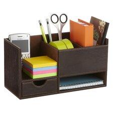 Leather Look Desktop Supply Organizer (Set of 4)