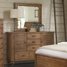 Summerhill 5 Drawer Combo Dresser with Mirror