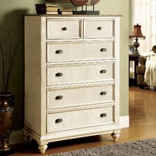 Coventry Two Tone 6 Drawer Chest