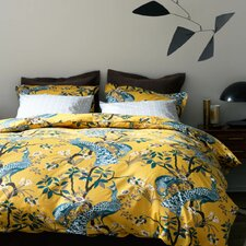 Peacock Citrine Duvet Cover