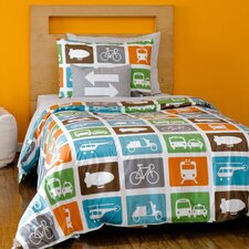 Transportation Duvet Cover Set