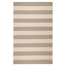 Draper Hand Woven Beige and Taupe Stripe Rug