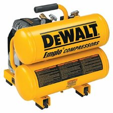 Hand Carry-Electric Compressors - Air Compressor 1.1 HP 4 Gallon Hand Carry Twin Tank