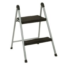 2-Step Steel Step Stool with 200 lb. Load Capacity