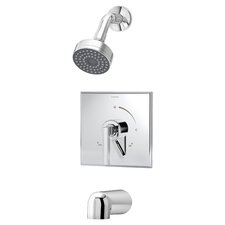 Duro Pressure Balance Tub and Shower Faucet Trim with Lever Handle
