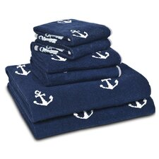 Anchors 6 Piece Towel Set