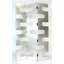"78"" x 48"" Modern Circular Cut Out 3 Panel Room Divider"