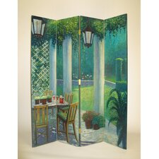 """64"""" x 72"""" Scene from the Porch 4 Panel Room Divider"""