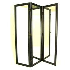"72"" H x 60"" W Mirror 3 Panel Room Divider"