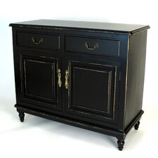 Buffet Cabinet in Distressed Antique Black