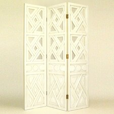 Geometric Room Divider in White