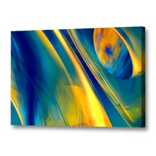 'Way Cool Blue' by Scott J. Menaul Graphic Art on Wrapped Canvas