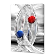 'Glass Rings and Spheres' by Scott J. Menaul Graphic Art on Wrapped Canvas