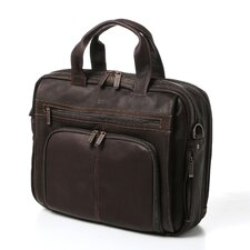 Business Cases Double Gusset Leather Laptop Briefcase
