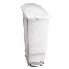 10.5-Gal Slim Plastic Step Trash Can