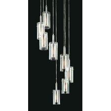 Zylinder Contemporary 8 Light Linear Foyer Pendant
