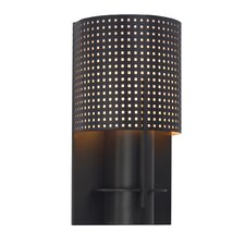 "Oberon 10"" One Light Wall Sconce with Black Bronze Steel Shade in Black Bronze"
