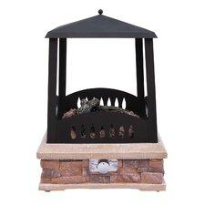 Grandview Steel Gas Outdoor Fireplace